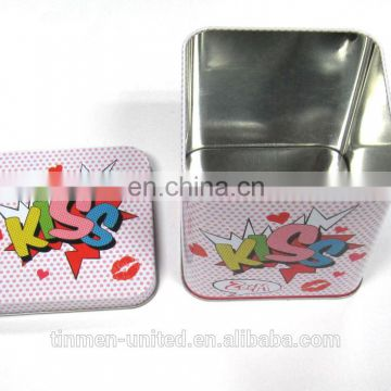 new design christmas gift square cookies tin box