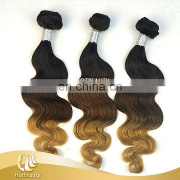 2017 Hot Beauty Ombre Color 3 Tone Color Body Wave No Tangle