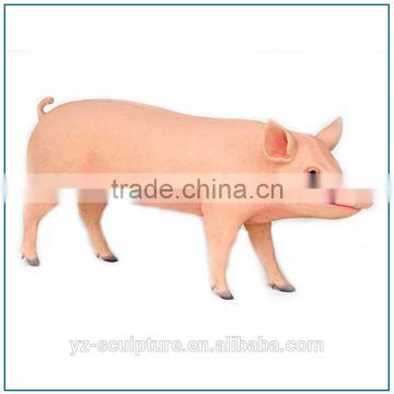 Farm decoration life size resin pig sculpture