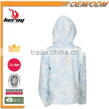 BEROY Wholesale high quality cotton zipper hoodies for kids, custom girl outdoor coat