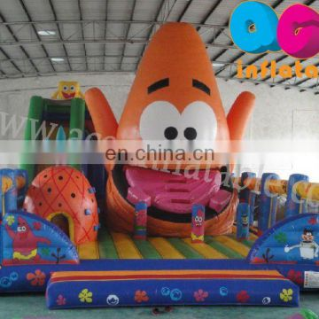 2011 hot inflatable fun city, spongebob inflatable fun part, entertainment playground