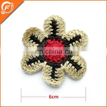 fashion snow shape wool felt flowers for decoration