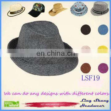 LSF19 Top Quality Low Price Popular Fabric Fedora fashion Hat decoration chinese hat