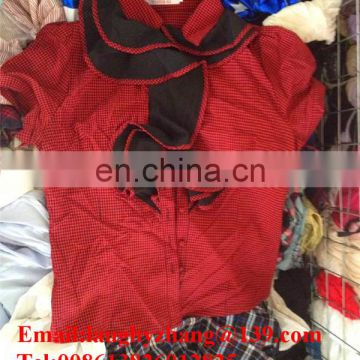wholesale summer mixed used clothes overstock brand clothing for Africa