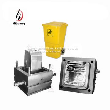 2018 plastic mould making taizhou mould steel injection garbage bin mold