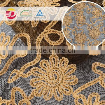 wholesale cheap guipure white cotton lace embroidery beautiful fabric samples of lace for dress