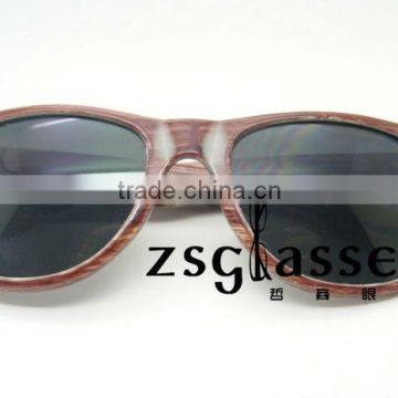Cheap Wholesale custom designer sunglasses/eyewear/retro wooden sunglasses can print logo in frame