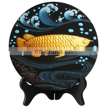 unique roundness relief ornaments for home decoration and gift