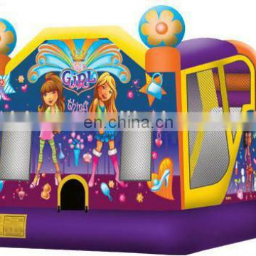 C4 combo, inflatable bouncer with slide, commercial inflatable combo C4008
