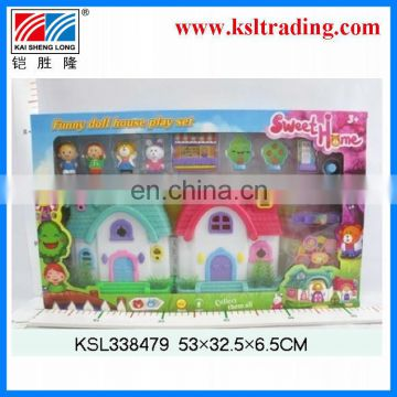 kids plastic castle toy with music and light