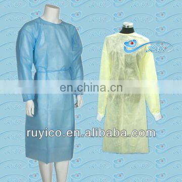 isolation gown,pp nonwoven isolation gown for hospital