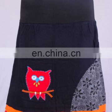 Beautiful Crochet Owl In Black Shade With Floral Print HHCS 110 E