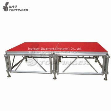 Mini Telescopic Wedding Event Party Design Portable Truss Structure Frame Aluminum Stage Platform
