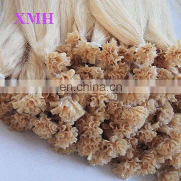 Best quality U/I/V/Flat tip keratin hair 100%human hair extension vendors