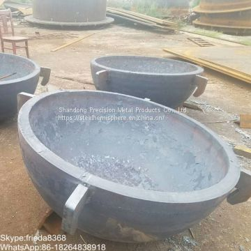steel pipe end steel hemisphere hemispherical head