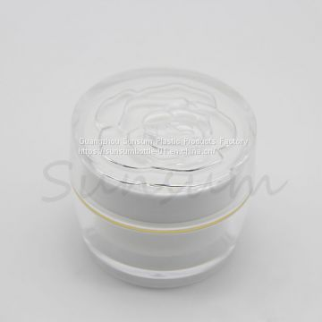 Luxury 30g Plastic Acrylic Double Wall Cream Jar for Facial Cream