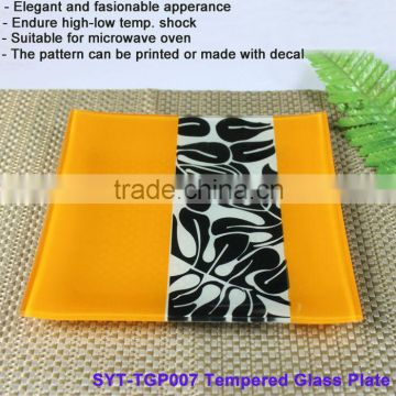 Square Tempered Glass Plate suitable for microwave oven