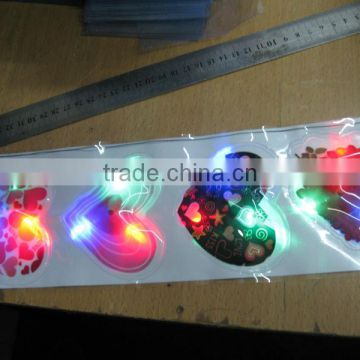 heart shaped led pvc patch/sticker