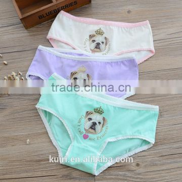 Woman cotton underwear/teen girls boxer comfortable cartoon printing panties Briefs