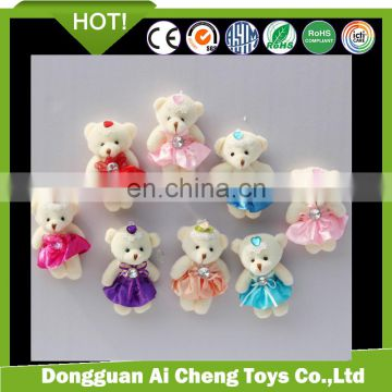 Very cheap plush bear keychain toys plush toys for giveaway