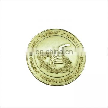 high quality and hot sale antiqu custom logo metal souvenir coin