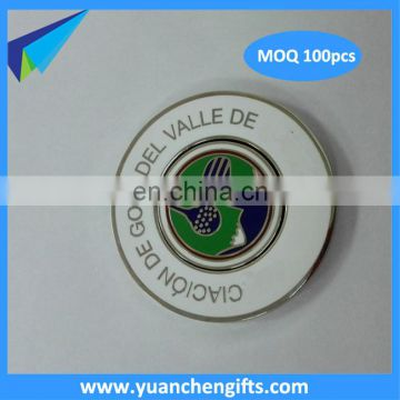 New style enamel magnetic ball marker/full color magnetic coin marker