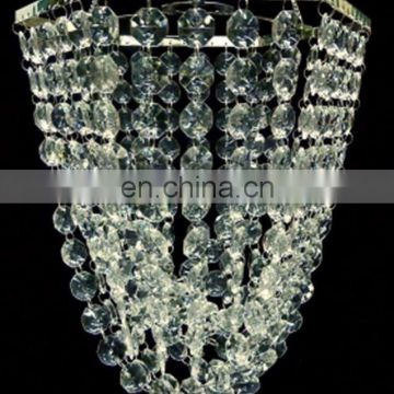 Iridescent Hexagon Crystal Beaded Chandelier