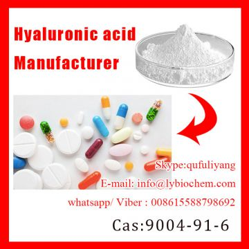 Cosmetic Grade Hyaluronic acid for Whitening Skin by ISO Certified Supplier