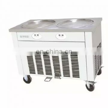 Factory Price Automatic Egypt rolled fry ice cream machine 2 pan durable fry ice cream machine