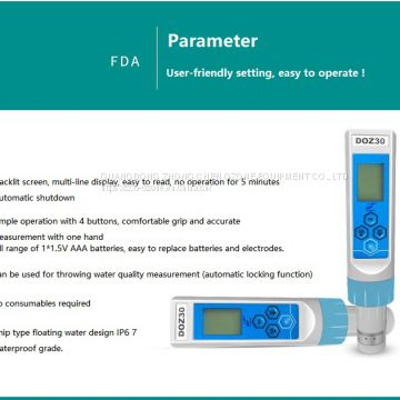 portable water ozone detector 0-10ppm