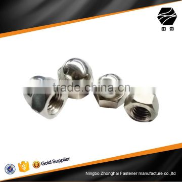 stainless steel hex domed cap nuts for connector bolts