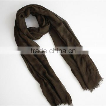 Plain Color Modal Scarf with fringe