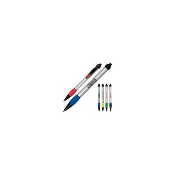 Promotional Blazer - Ballpoint pen with colorful grip section, black tip and clip