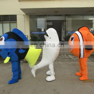 Adult size finding dory mascot costume for sale