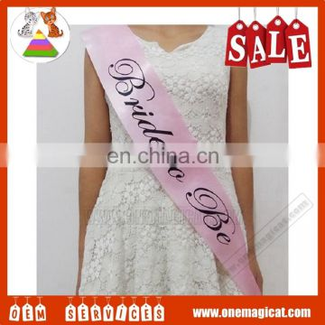 2016 Fashion High Quality Bride To Be Sash Wedding Bridal Sash