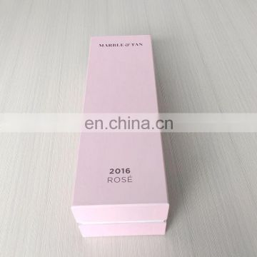 Nice design high quality light pink wine bottle gift box