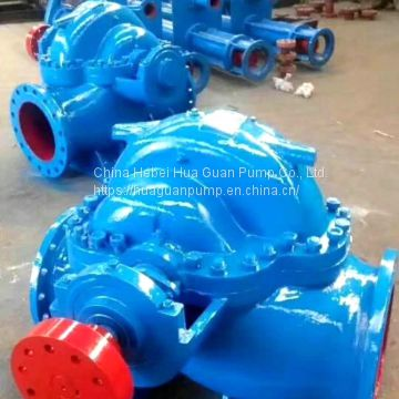 S/SH series double suction middle opening pump high flow and high lift can be driven by internal combustion engine and c