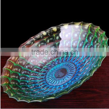 attractive and durable glass fruit plate