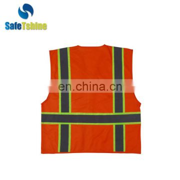 High visibility ANSI STANDARD new design cheap Glow Safety Vest