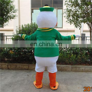 Factory direct sale cartoon character oregon duck mascot costume for adults