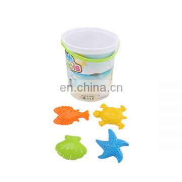 Plastic barrel set sand beach toys with water cannon for kids