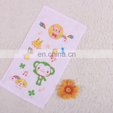 hot sale creative cartoon printing gauze cotton kids towel