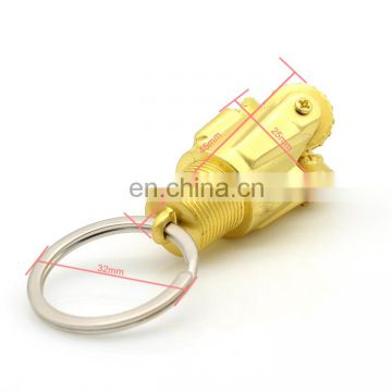 Gold plating JYB supply Oil drill metal custom key chain for promotion