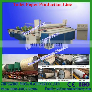 1575mm toilet paper production line making machines from recycled material and virgin pulp (0086-18037126904)