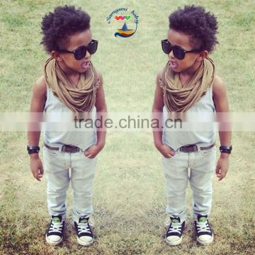 2015 Fashion matching boy outfits top and pants Spring Summer Autumn boy clothes sets