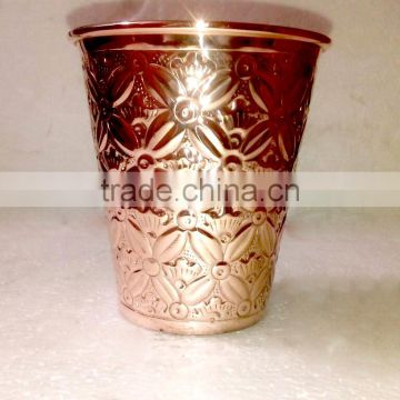 NEW EMBOSSED DESIGN SOLID COPPER WATER TUMBLER