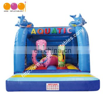 Hot sale amusement park jumping inflatable ocean bouncer with free EN14960 certificate