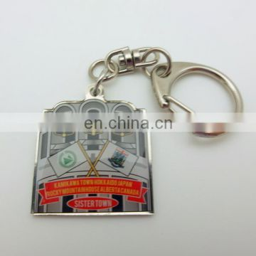 Wholesale Cheap Metal Etched CUSTOMER LOGO Colorful Souvenir KEY CHAIN