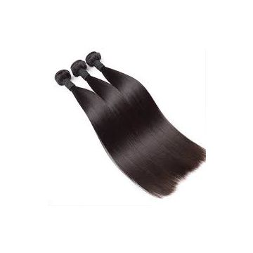 Cambodian Front Lace Human Hair Wigs Yaki Straight Brown