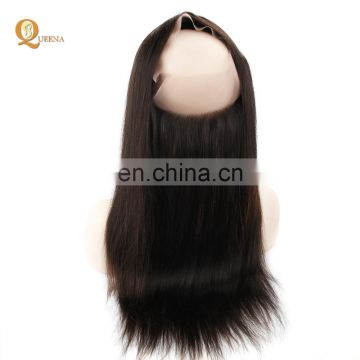 Original Brazilian Human Hair Extension Pre plucked 360 Lace Frontal Closure